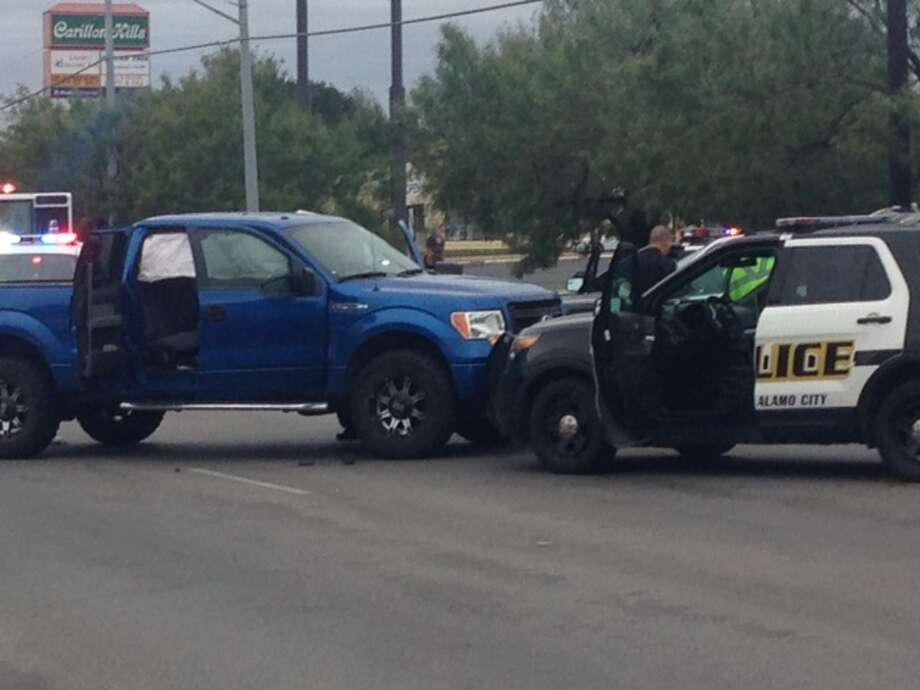 Two men were arrested Thursday afternoon following a carjacking turned chase on the Northwest Side.