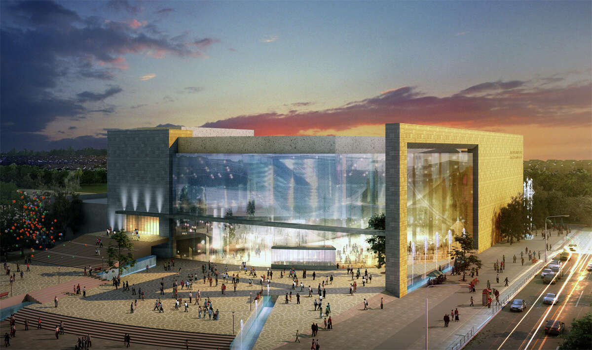 Architectural rendering of the Sugar Land performing arts center