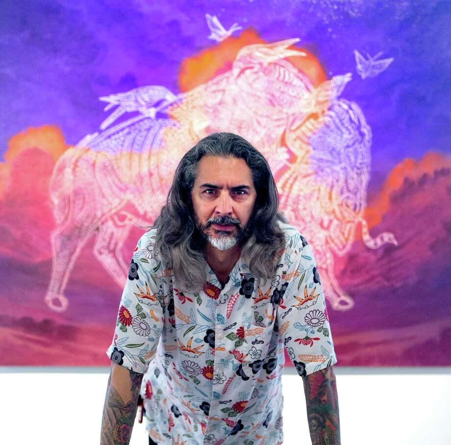 Artist Ricky Armendariz has been named the DoSeum's first artist in reference. Photo: William Luther /San Antonio Express-News / © 2014 San Antonio Express-News