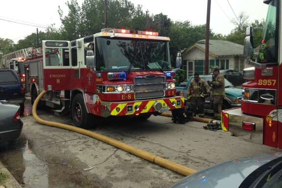 A man received burns to nearly 70 percent of his body Thursday afternoon when a fire erupted at his home on the Northwest Side.
