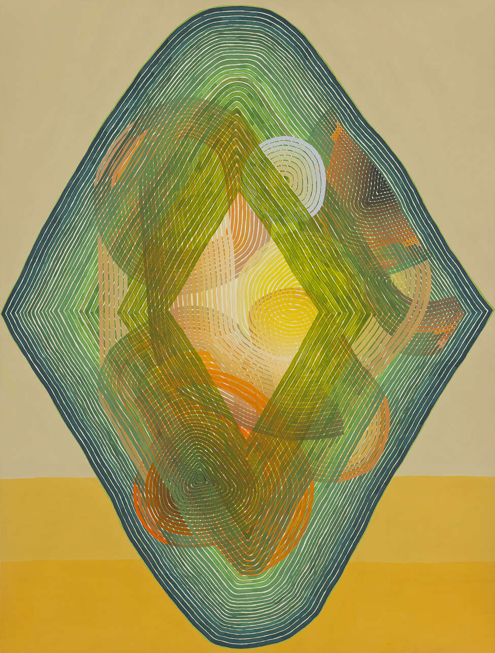 Jenny Kemp, Mellow Yellow, 2013, Gouche on paper, 30 x 20