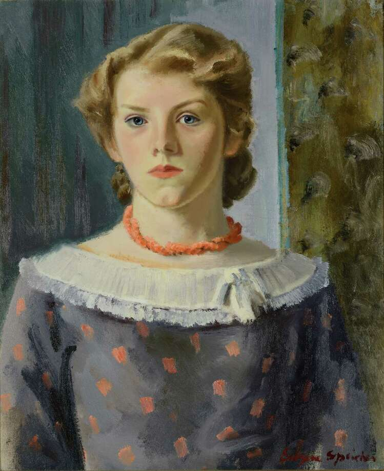 Girl in a Coral Necklace (Joyce), 1935, oil on canvas by Eugene Speicher from the collection of Arthur A. Anderson. (Bob Wagner)