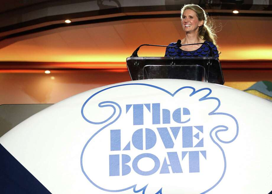 Jan Swartz, President of Princess Cruises speaks onboard the Regal Princess at Port Everglades in Fort Lauderdale, Fla. on Wednesday, Nov. 5, 2014 for its North American debut and naming ceremony. The ship's naming ceremony also marked the launch of Princess Cruises' year-long 50th anniversary celebration. Photo: Marc Serota, Associated Press / AP Images
