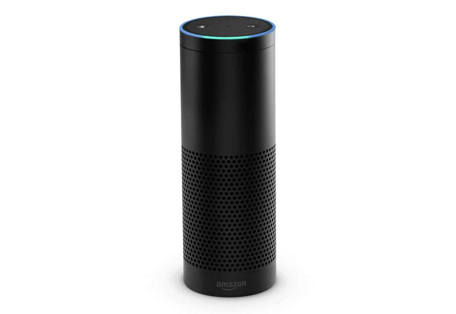 This product image provided by Amazon shows the Amazon Echo. The Wi-Fi only speaker-like device, which has an accompanying app for tablets and smartphones, is Bluetooth enabled and can play music from Amazon Prime Music or other music services like iTunes and Spotify. (AP Photo/Amazon) ORG XMIT: NYBZ178 Photo: Uncredited / Amazon