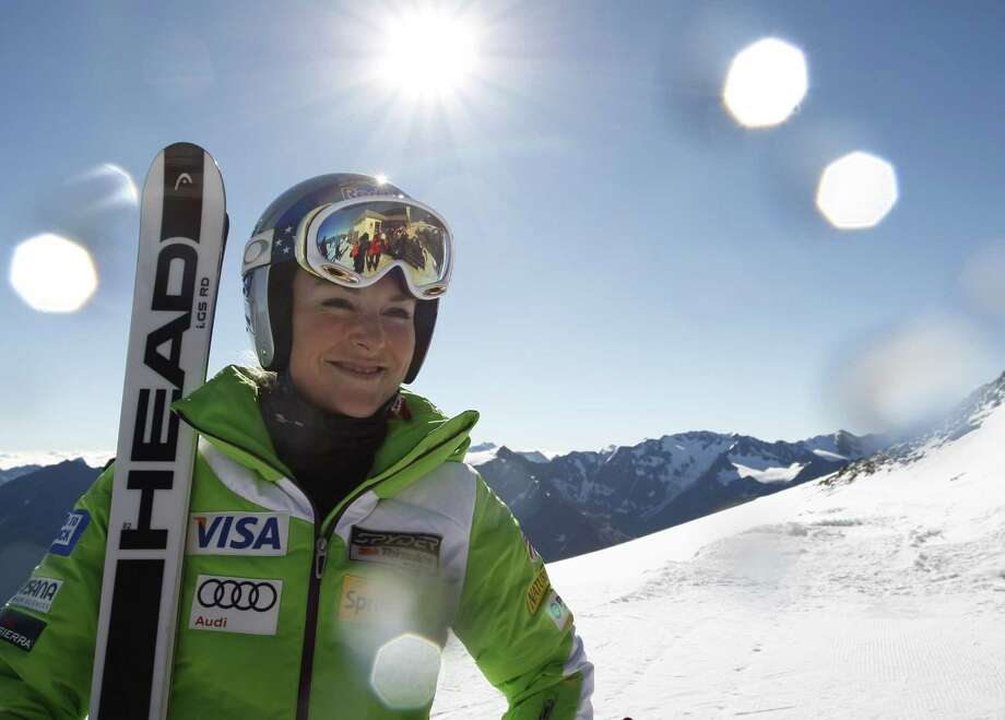 Alpine ski racer Lindsey Vonn of US poses for a photograph during a training session on the Oetztal glacier in Solden, Austria on October 4, 2014. Vonn had to stop competition after her accident at the Women's Super G event during the Alpine FIS Ski World Championships in February 2013. AFP PHOTO / PIERRE TEYSSOTPIERRE TEYSSOT/AFP/Getty Images ORG XMIT: - Photo: PIERRE TEYSSOT / PIERRE TEYSSOT