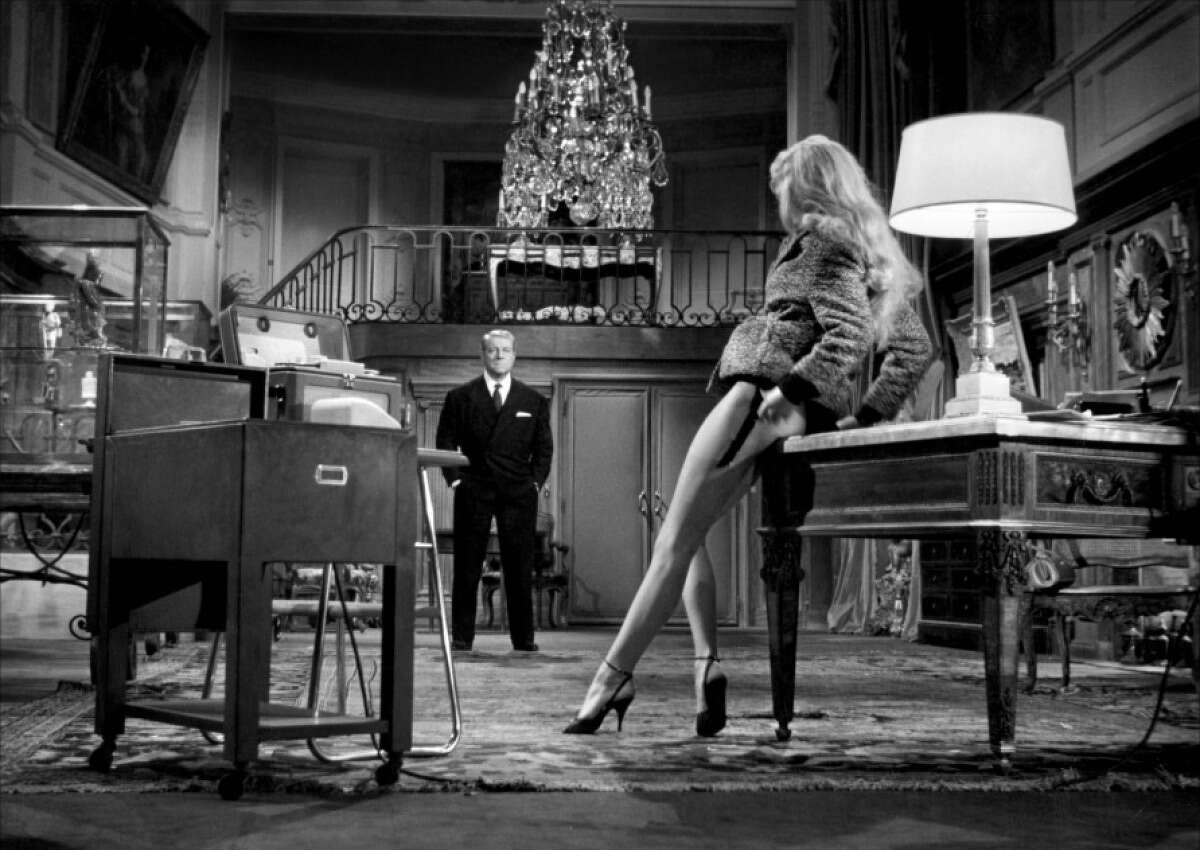 """Brigitte Bardot plays a prostitute accused of robbery who becomes the mistress of her lawyer, played by Jean Gabin, in """"Love Is My Profession,"""" part of the Sunday matinee."""