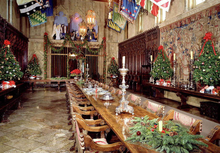 The refectory of Hearst Castle, which becomes a Christmas spectacle beginning Thanksgiving weekend. The castle is decorated as it might have been during the 1920s and '30s. The castle displays about a dozen Christmas trees, from 18 footers down to multiple smaller trees in some rooms. Photo: Courtesy Hearst Castle / Hearst San Simeon State Historic / ONLINE_YES