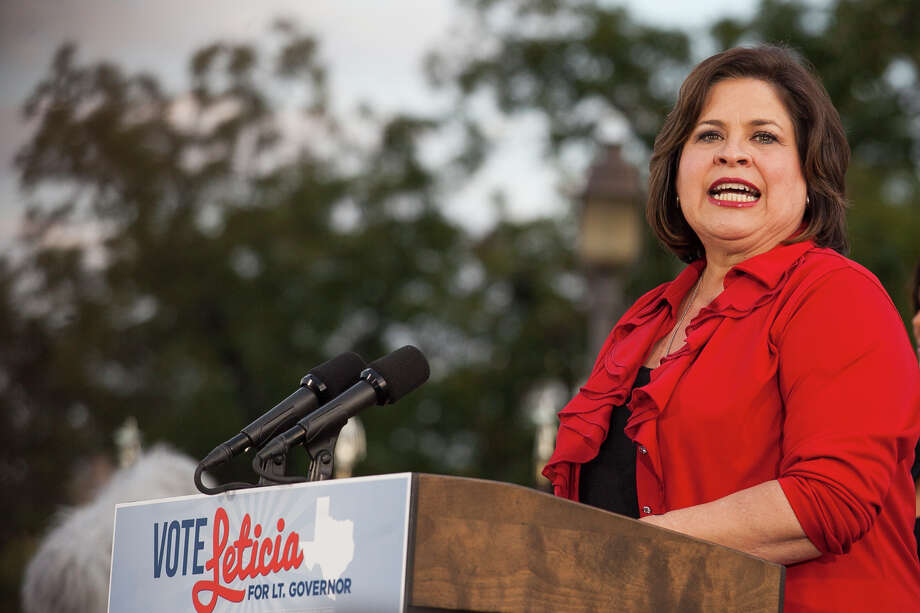 "Senator Leticia Van de Putte, running for Lt. Governor, speaks Wednesday October 22, 2014 at a rally in San Pedro Park launching a statewide ""Vote Leticia Tour."" Photo: For The San Antonio Express-News / Julysa Sosa For the San Antonio Express-News"