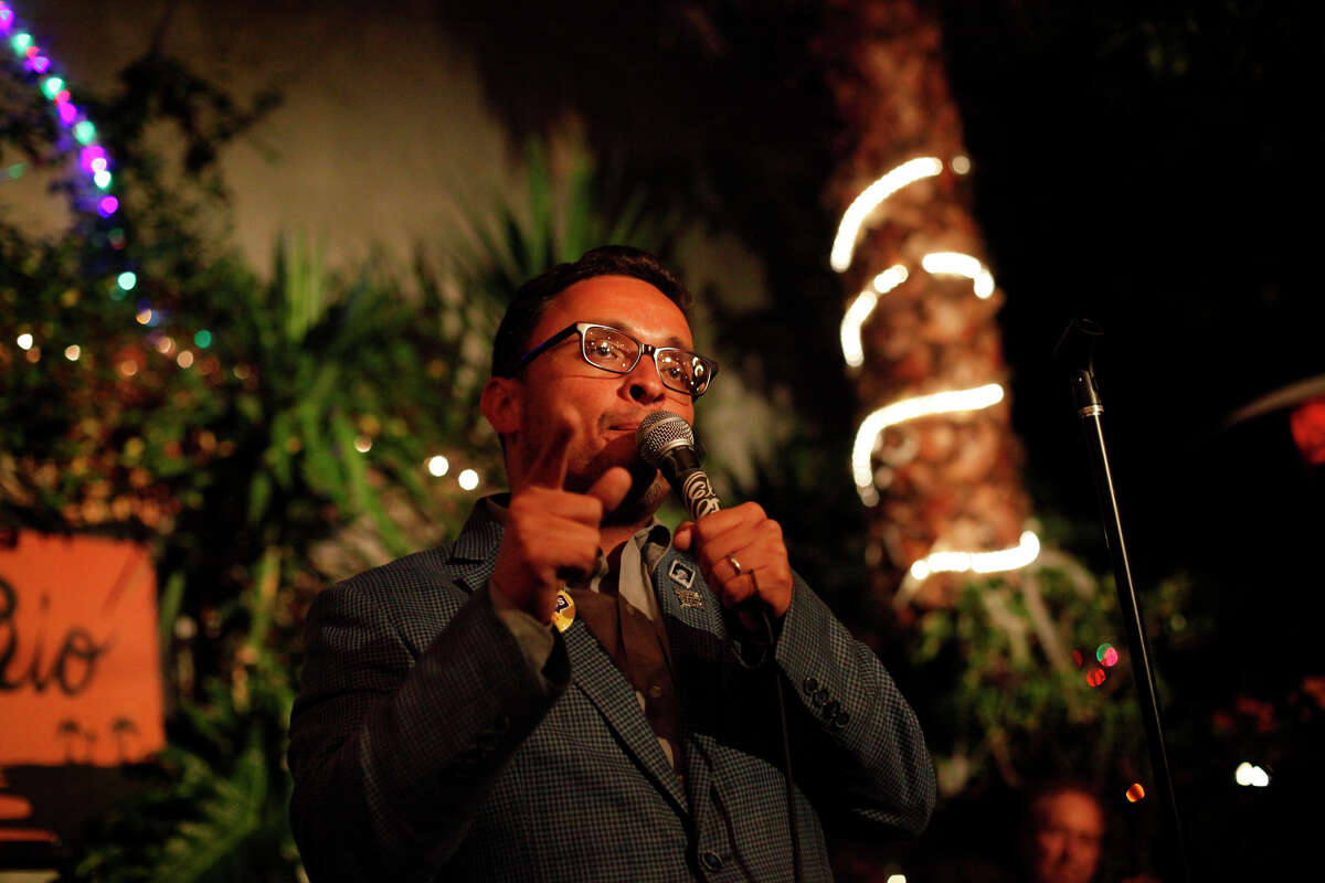 David Campos speaks to the crowd at his election night party in San Francisco on Nov. 4, 2014.