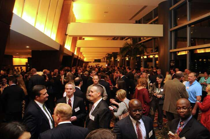 Guests mingle Thursday evening at the Houston Chronicle's Top Workplaces awards event. The Chronicle will publish a special section Sunday on the rankings.