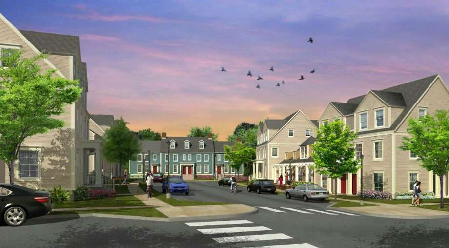 An artist rendering of Charter Oak Communities' proposed 76-unit housing development on Palmers Hill Road. Photo: Contributed Photo / Stamford Advocate Contributed