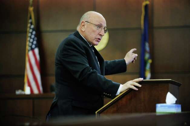 Defense attorney, Michael Feit, addresses members of the jury during opening arguments in the trail of Pablo Cruz at the Albany County Judicial Center on Tuesday, July 15, 2014, in Albany, N.Y.  Cruz is accused of hitting and killing Paul Merges Jr. at an Albany intersection as Cruz tried to drive away from police.  (Paul Buckowski / Times Union) ORG XMIT: MER2014071515411390 Photo: Paul Buckowski / 00027809A