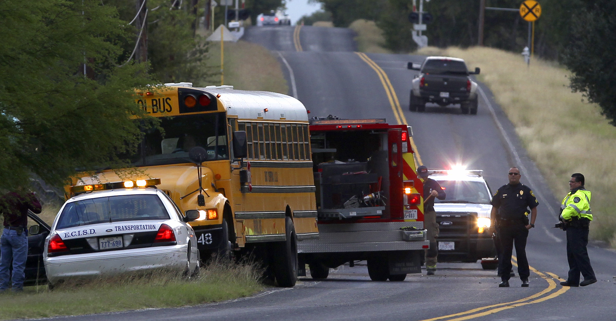 Driver Slams Into School Bus Carrying 18 Children Houston Chronicle