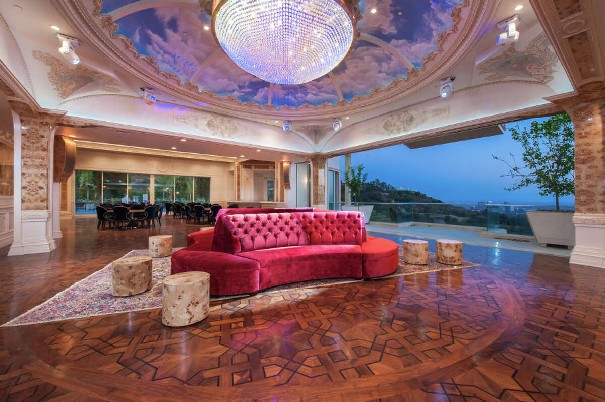 The 53,000-square-foot 'Palazzo di Amore' estate has 12 bedrooms and 23 bathrooms. At $195 million, the property is now the most expensive listed in the U.S.