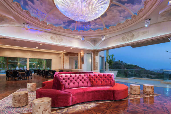 The 53,000-square-foot 'Palazzo di Amore' estate has 12 bedrooms and 23 bathrooms. At $195,000,000, the property is now the most expensive listed in the U.S.