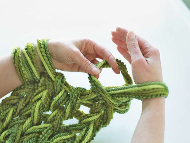Knitting Using Your Arms As Needles : Arm knitting no needles needed connecticut post