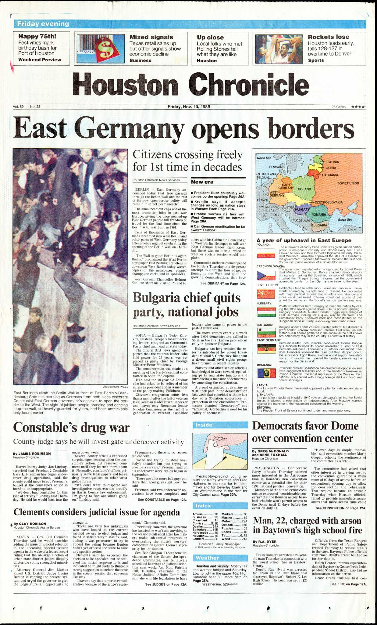 From the archives: East Germany opens borders