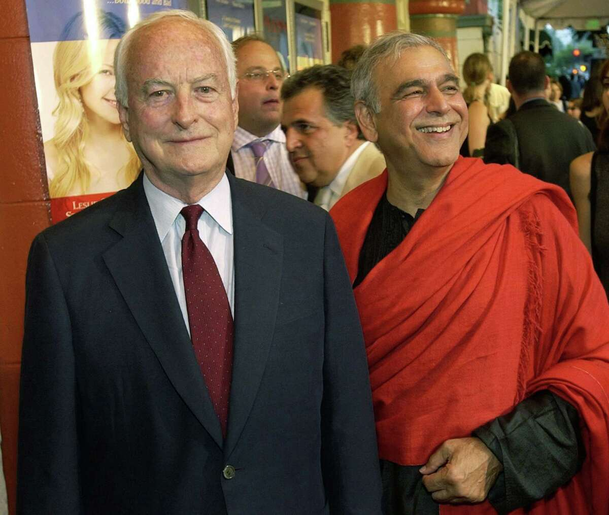 Director James Ivory (left) and producer Ismail Merchant were professional collaborators - and life partners - from 1961 until Merchant's death in 2005. The artistic partnership was the longest-lasting in the history of independent film history, according to the Guinness Book of World Records. REUTERS/Lucy Nicholson