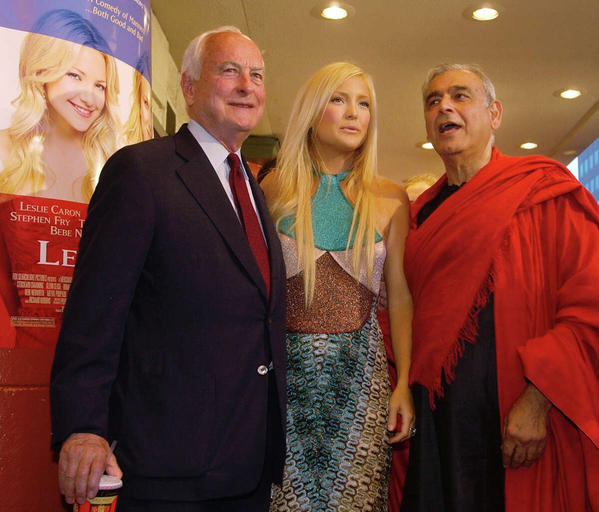 """Kate Hudson with director James Ivory, left, and producer Ismail Merchant at the premiere of """"Le Divorce."""""""