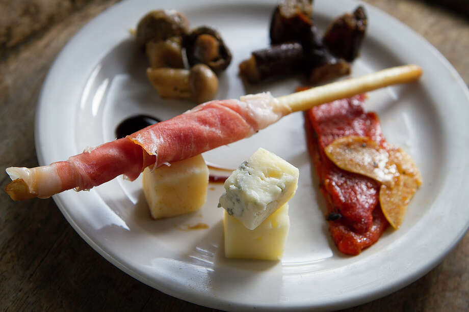 Dough's piccolo antipasto, a small version of the antipasto platter. Photo: Kevin Geil