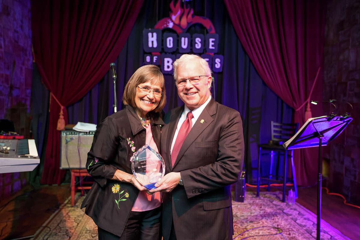 Karen King and Dr. Ronald L. Hopping