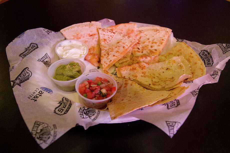 A quesadilla from Tortas and Tacos at the AT&T Center, Wednesday, Nov. 5, 2014. Photo: Alma E. Hernandez,  For The San Antonio Express News / Alma E. Hernandez / For The San