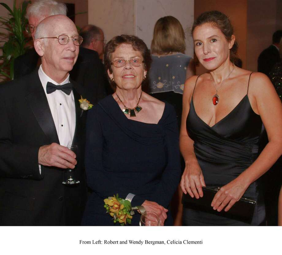 Robert G. and Wendy Bergman, left, with Celicia Clementi Photo: Kaye Marvins