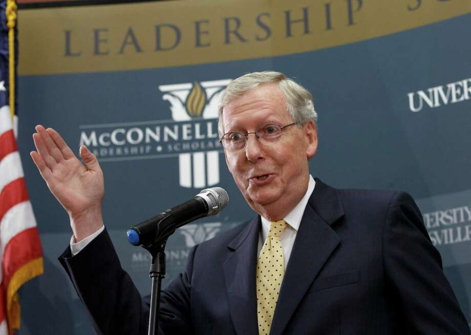 GOP wins Tuesday do not spell mandate. Americans want cooperative government. Senate Republican leader Mitch McConnell of Kentucky easily won a contest that was viewed as tight. Photo: J. Scott Applewhite / J. Scott Applewhite / Associated Press / AP