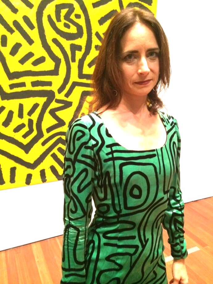 Kristen Haring; dress fabric was designed by Keith