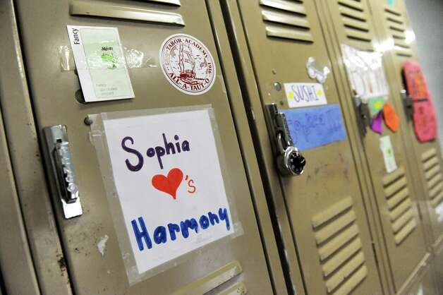 Middle-school students' lockers on Wednesday, Nov. 5, 2014, at The Free School in Albany, N.Y. (Cindy Schultz / Times Union) Photo: Cindy Schultz / 00029346A