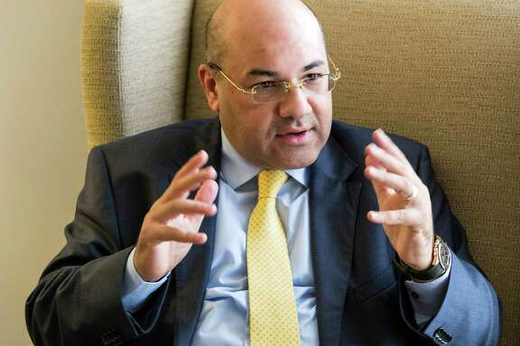 Lukman Faily, Iraq's ambassador to the United States during interview at the Westin Galleria, 5060 W. Alabama.  Friday  November 7, 2014 (Craig H. Hartley/For the Chronicle)