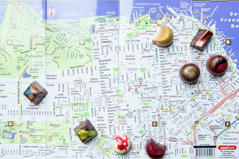 """""""SF Chocolates Collection""""  from  Kimberly Bugler, executive pastry chef at Union Square's Sir Francis Drake Hotel Photo: Photos By Aubrie Pick / ONLINE_YES"""