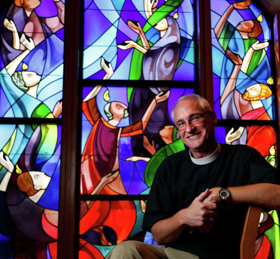 The Rev. Clay Lein said no the first time a search committee from St. John's Episcopal Church asked if he might be interested in becoming the Houston congregation's first new rector in 33 years. Photo: Karen Warren, Staff / © 2014 Houston Chronicle