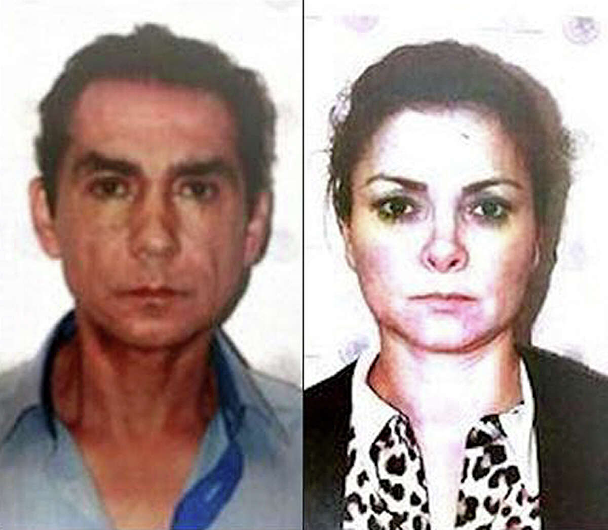 This two-image composite released by Mexico's Attorney General's office (PGR) on Nov. 5, 2014 shows the former mayor of the town of Iguala, Jose Luis Abarca, left, and his wife, Maria de los Angeles Pineda, after their arrest in Mexico City. Hiding out in a gritty slum, this politically connected couple believed to have ordered an attack that killed six people and left 43 students missing in September tried to lie low as dozens of federal agents staked out their suspected hiding spots. (AP Photo/PGR)