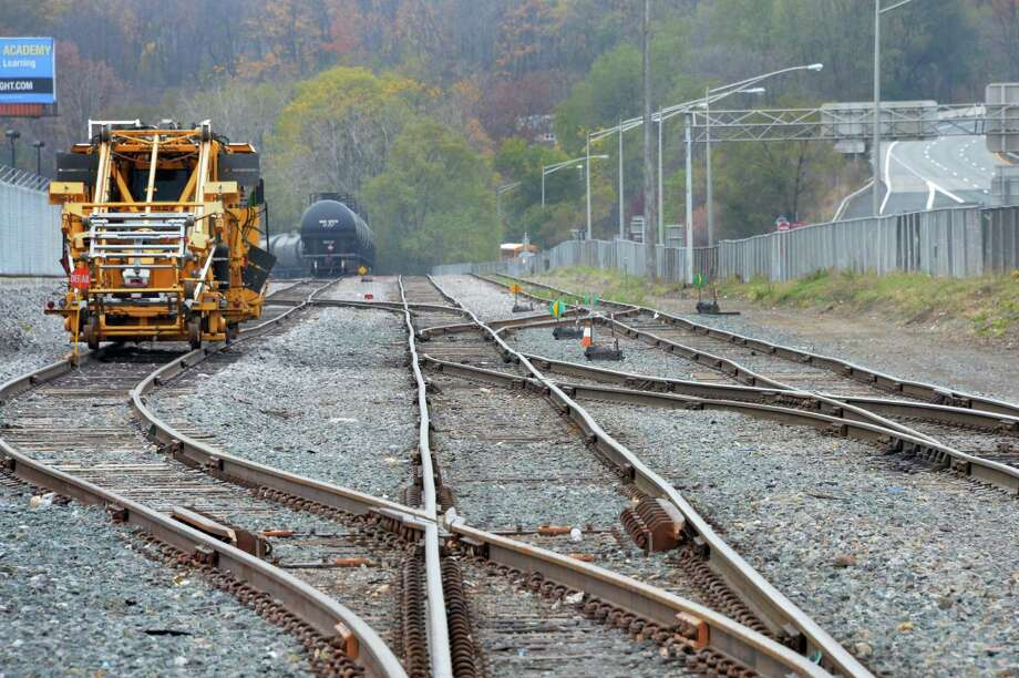 Railroad tracks where oil trains are normally parked along I-787 at the entrance to the Port of Albany Thursday Nov. 6, 2014, in Albany, N.Y.  (John Carl D'Annibale / Times Union) Photo: John Carl D'Annibale