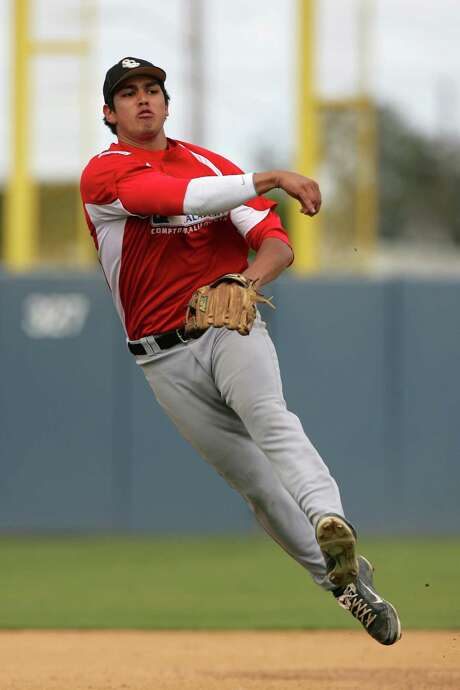 Third-base prospect Rio Ruiz, 20, missed his high school senior season because of a blood clot in his right shoulder, but he has recovered nicely. Photo: Larry Goren, CTR / AP2012