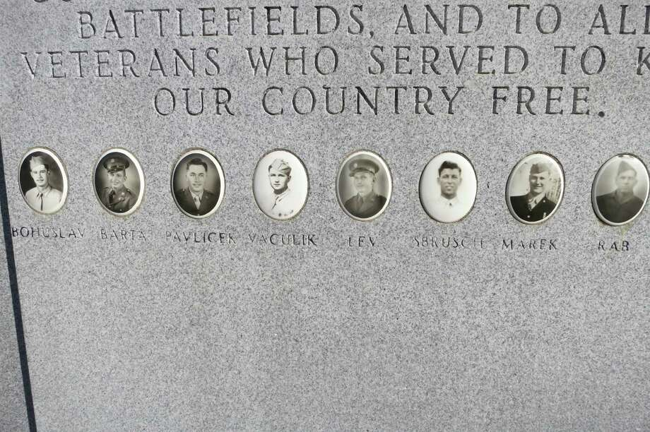 A memorial was erected in 1984 to the Praha farmboys, who all died within about a year of each other toward the end of World War II. Photo: Joe Holley / Houston Chronicle