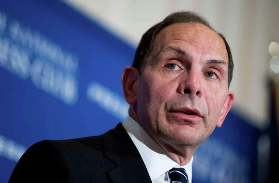 Veterans Affairs Secretary Robert McDonald speaks about his efforts to improve services  veterans, Friday, Nov. 7, 2014, during a news conference at the National Press Club in Washington.   (AP Photo/Manuel Balce Ceneta) Photo: Manuel Balce Ceneta, STF / AP