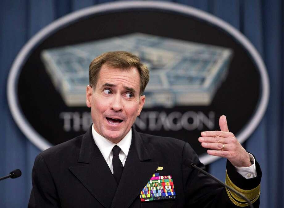 Rear Adm. John Kirby, the Pentagon spokesman, said Defense Secretary Chuck Hagel requested the deployment of additional U.S. troops earlier this week.  Photo: Manuel Balce Ceneta, STF / AP