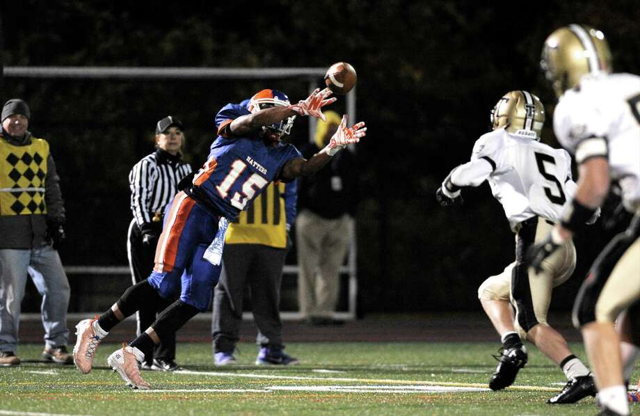 FCIAC football game between Trumbull and Danbury high schools, on Friday night, November 7, 2014, played at Danbury High School, Danbury, Conn. Photo: H John Voorhees III / The News-Times