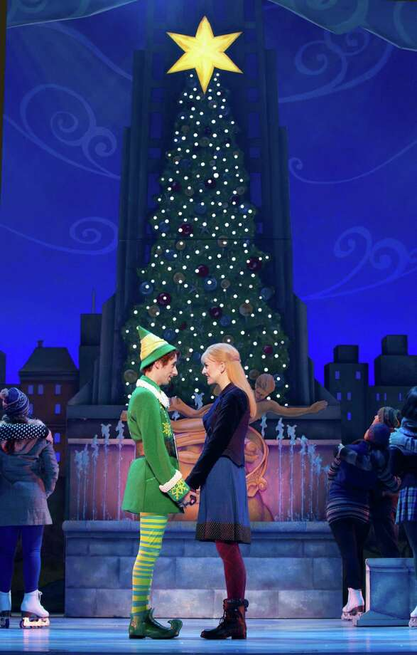 """Matt Kopec as Buddy (left) and Kate Hennies as Jovie in """"Elf."""" Photo: Joan Marcus / ONLINE_YES"""