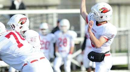 High school football game between Westhill High School and Greenwich High School at Westhill in Stamford, Conn., Saturday, Nov. 8, 2014.