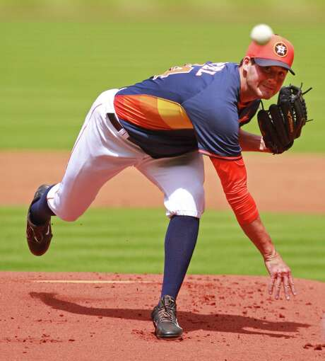 After totaling just 831⁄3 minor league innings in 2014, Mark Appel is pitching in the Arizona Fall League. Photo: Melissa Phillip, Staff / © 2014  Houston Chronicle