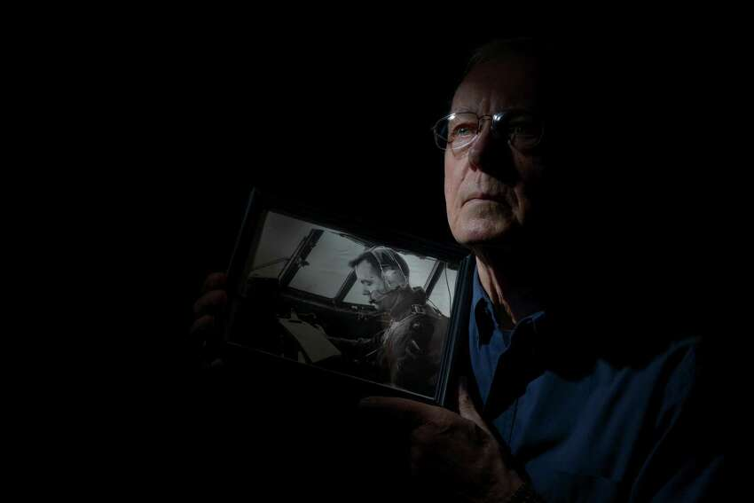 Air Force Lt. Col. Bill Bless flew C-130 transport aircraft through his entire career. He is photographed at home in San Antonio, Texas on Oct. 22, 2014.