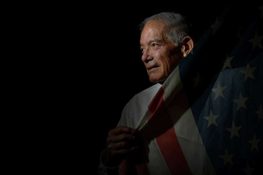 Joe Barrera, 84, served in the Marine Corps. He progressed far despite having only a fourth grade education.