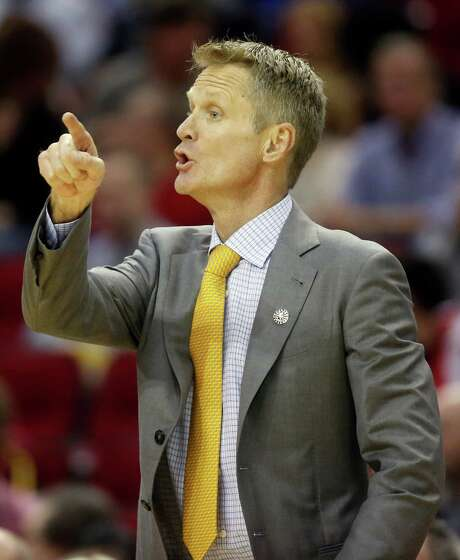With his Warriors 5-0 after beating the Rockets, Steve Kerr is coaching the NBA's sole unbeaten team. Photo: Cody Duty, Staff / © 2014 Houston Chronicle