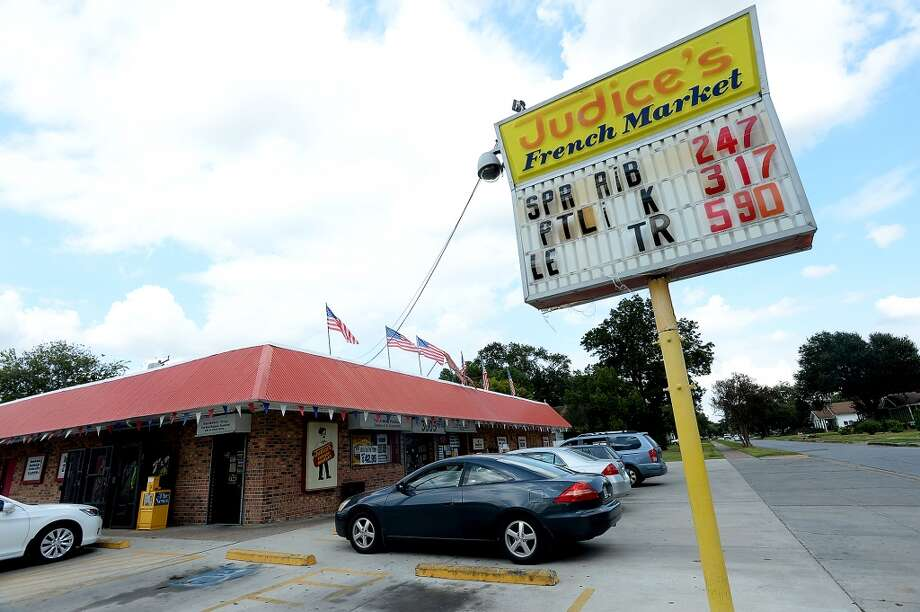 Judice's French Market in Port Arthur is a neighborhood grocery store open since 1927, which specializes in meats, seafood and seasonings for classic Cajun cooking. Photo taken Wednesday, October 29, 2014 Kim Brent/@kimbpix