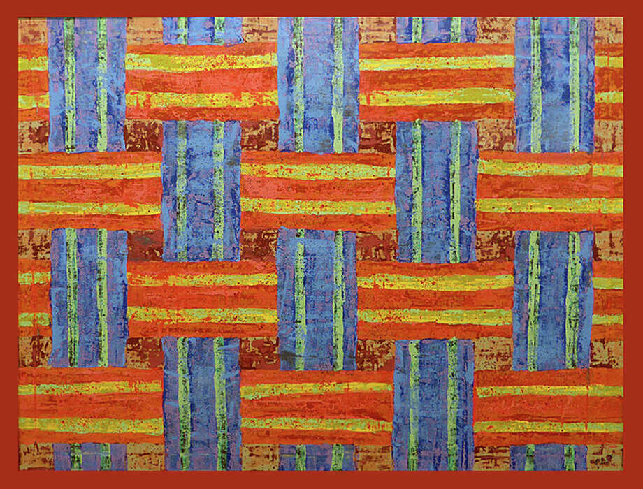 "Columnist Dan Woog writes about the current exhibit of Fred Lyle's paintings at Rockwell Art and Framing:"" Each canvas is different. He experimented, and learned from his mistakes. Now, he seldom covers an entire canvas with one color on top of another. He plans what heís doing in the addition phase, so that when he subtracts (sands) the paint, he reveals what heís after."" Photo: Contributed Photo / Westport News"