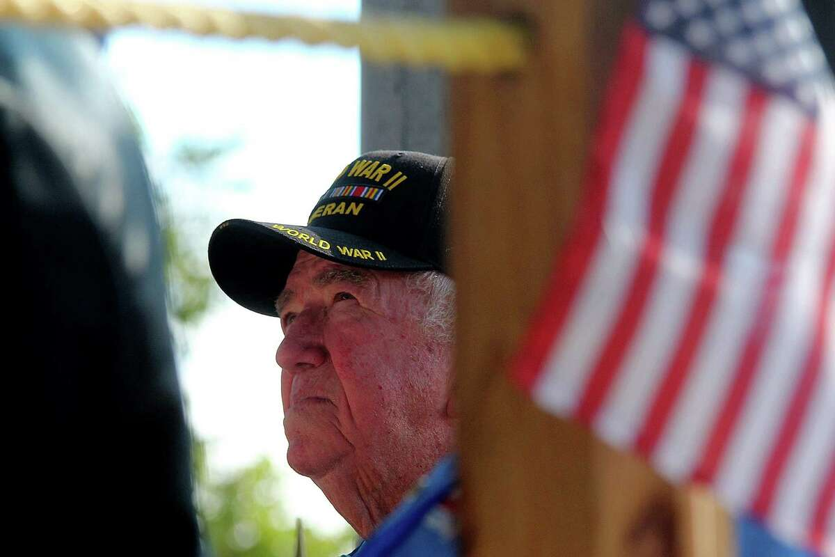 A World War II veteran is honored at the event.