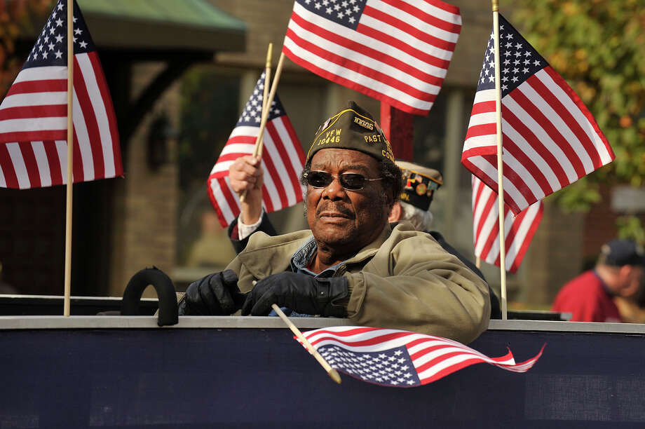 Scenes from the Veterans Day Parade in downtown Stamford, Conn., on Sunday, Nov. 9, 2014. Photo: Jason Rearick / Stamford Advocate